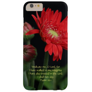 Floral, Red Gerbera Daisy w Psalm 26:1 Barely There iPhone 6 Plus Case