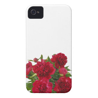 Floral Red Peonies iPhone 4 Case