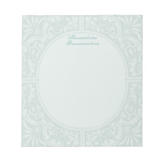 Floral Relief Circular Frame Notepad