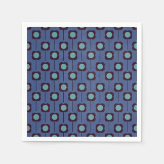 Floral Retro 70's Wallpaper Pattern Napkin