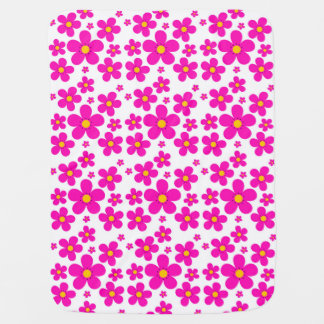 floral retro pattern baby blanket