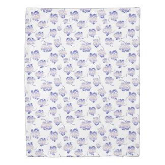floral retro pattern duvet cover