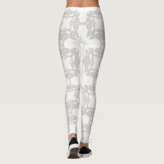 floral retro pattern leggings