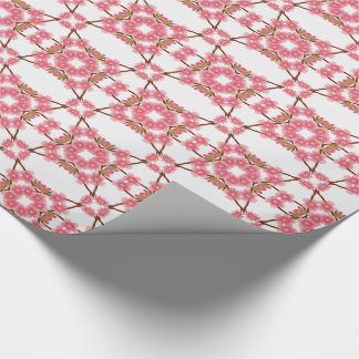 floral retro pattern wrapping paper