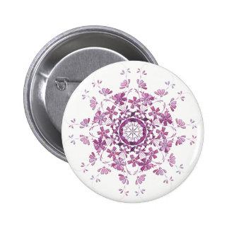 floral retro purple elment 2 inch round button