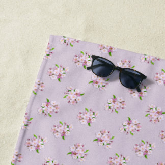 Floral retro spring  pattern. beach towel