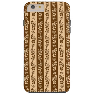 Floral retro striped pattern tough iPhone 6 plus case