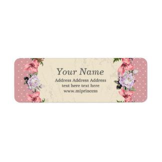floral  return address stickers