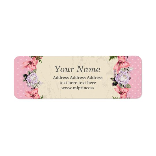 floral  return address stickers return address label