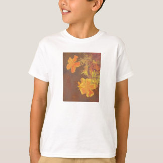 Floral Rhapsody In Orange and Yellow T-Shirt