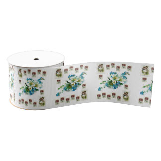 floral ribbon grosgrain ribbon
