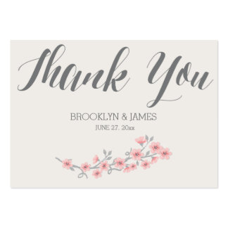 Floral Romantic Wedding Favor Tags Pink Large Business Card