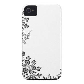 Floral rose branch silhouette Blackberry Bold case