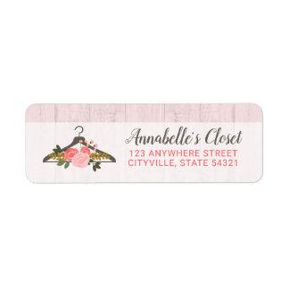 Floral Rose Clothes Hanger Boutique Return Address