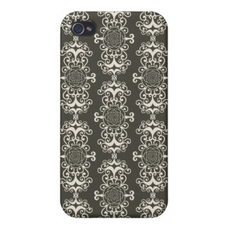 Floral rose damask girly goth wallpaper pattern case for the iPhone 4