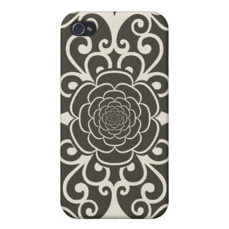 Floral rose damask girly goth wallpaper pattern iPhone 4/4S cases