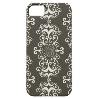 Floral rose damask swirl wallpaper pattern case iPhone 5 cases