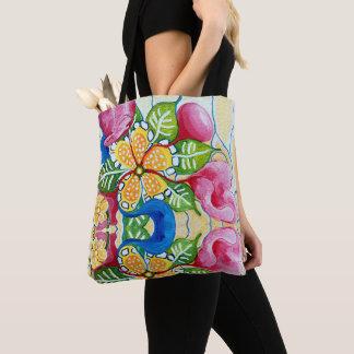 Floral Rose Tropical Hawaiian Tote Bag