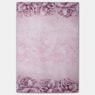Floral rose violet de lavande anglaise vintage de note post-it