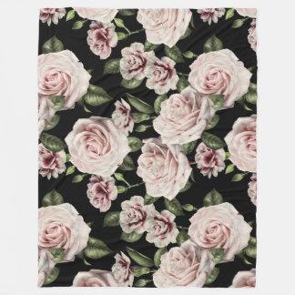 Floral Roses Fleece Blanket