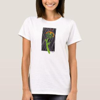 floral round black flower T-Shirt