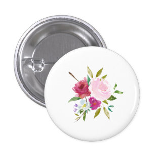 Floral Round Button Bouquet