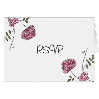 Floral RSVP cards