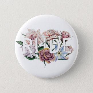 Floral Rude 2 Inch Round Button