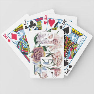 Floral Rude Bicycle Playing Cards