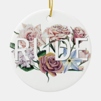 Floral Rude Ceramic Ornament