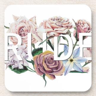 Floral Rude Coaster