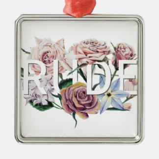 Floral Rude Metal Ornament