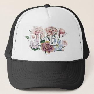 Floral Rude Trucker Hat