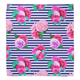 Floral sailor striped bandana