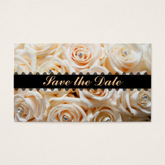 Floral save the date profile card
