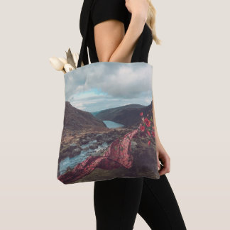Floral Scarf in the Mountains Tote Bag