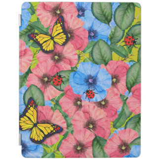 Floral scene iPad cover