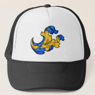 Floral Scroll Pattern Filigree Heraldry Design Trucker Hat