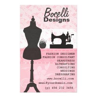 Floral Seamstress Fashion Dress Form Mannequin Flyers