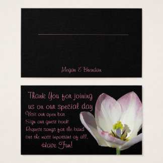 Floral Seating Card