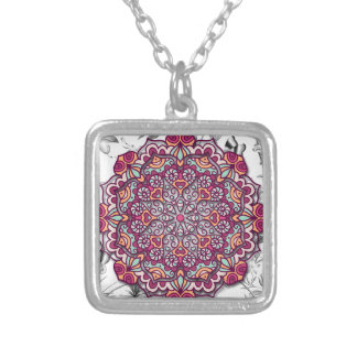 Floral Send it Silver Plated Necklace