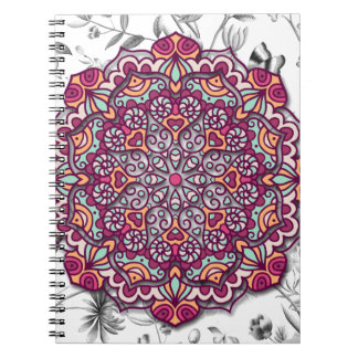Floral Send it Spiral Notebook
