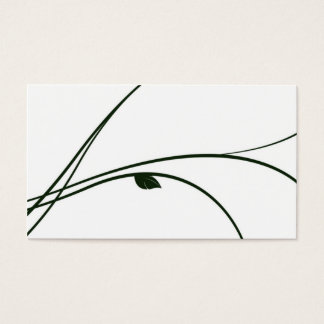 Floral Series - 02 - White/Green Business Card
