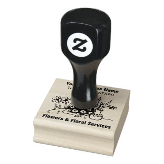 Floral Services, Florist Flower Shop Rubber Stamp