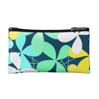 Floral shapes and lines cosmetic bag