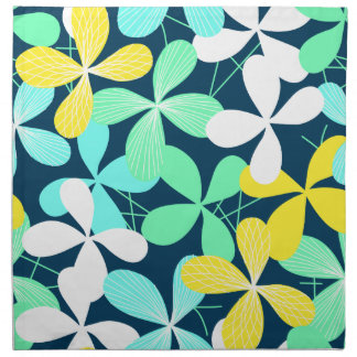 Floral shapes and lines napkin