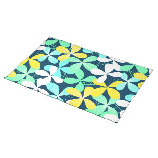 Floral shapes and lines placemat