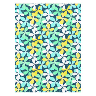 Floral shapes and lines tablecloth