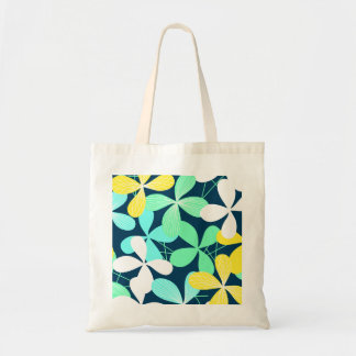 Floral shapes and lines tote bag