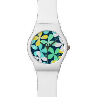 Floral shapes and lines watch